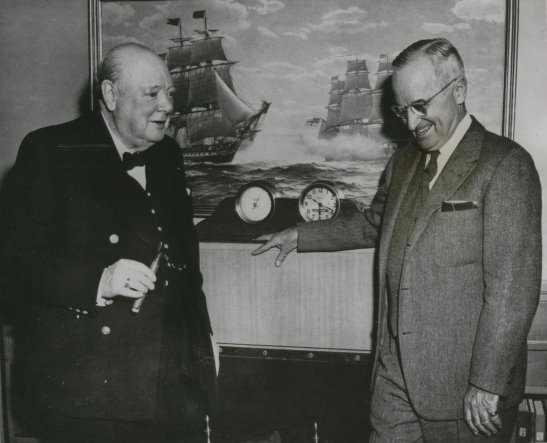 churchill and truman meeting